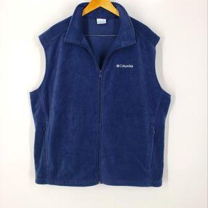 Columbia Men's Fleece Zip-up Vest XXL